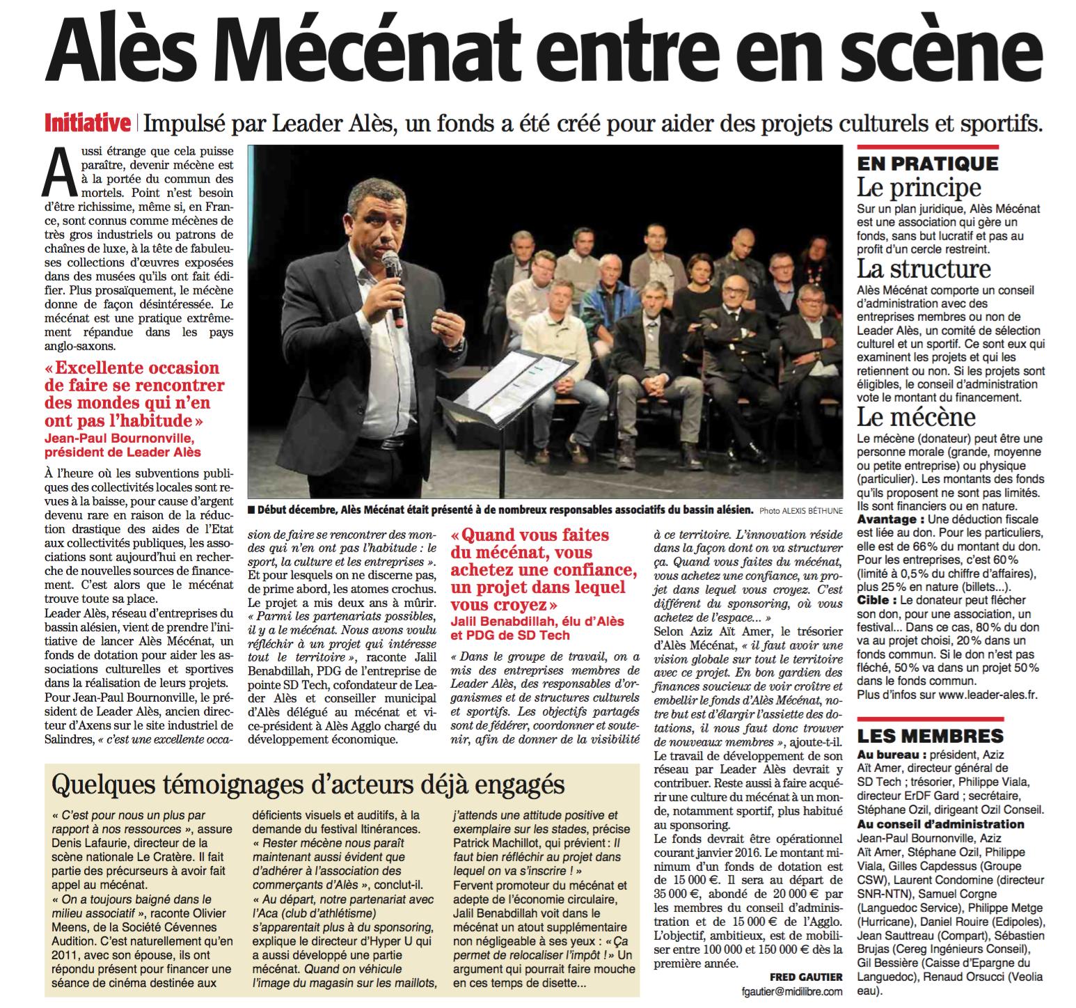 Alès Mécénat Midi Libre